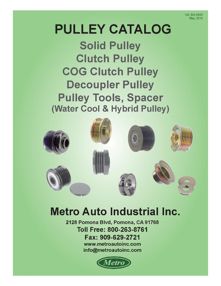 Alternator Pulley Catalog