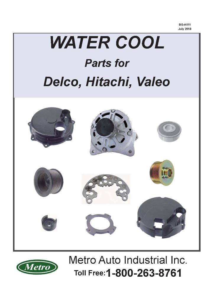 Alternator Water Cool Parts for Delco,Hitachi,Valeo Catalog (BG-A011)